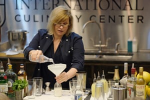 Audrey Saunders leads the cocktail demonstration at the 2016 New York Culinary Experience