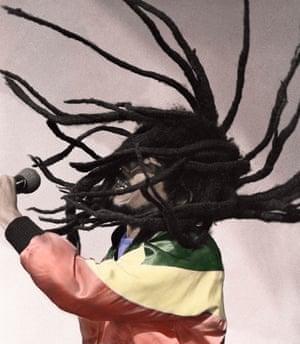 Bob Marley performing his last London concert at Crystal Palace Bowl.