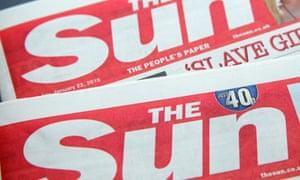 The Sun masthead