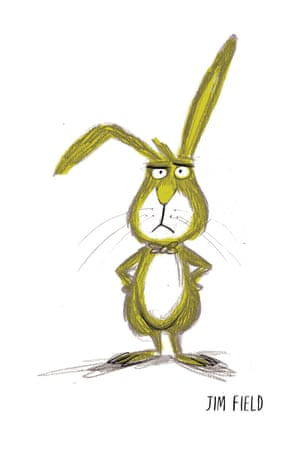 Jim Field: 'This was the rabbit design that 'stuck', it captured his grumpy qualities and it felt like he had plenty of scope for further characterisation.'