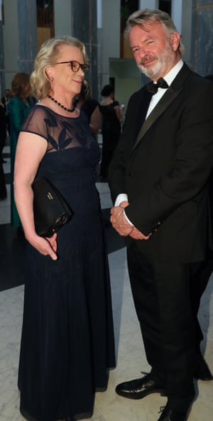 Laura Tingle and Sam Neill
