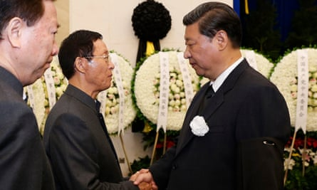 Chinese president Xi Jinping (right)