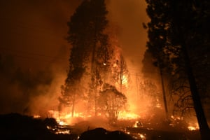 Eight people have been killed and some 3,300 structures destroyed over the past three weeks in wildfires across the state