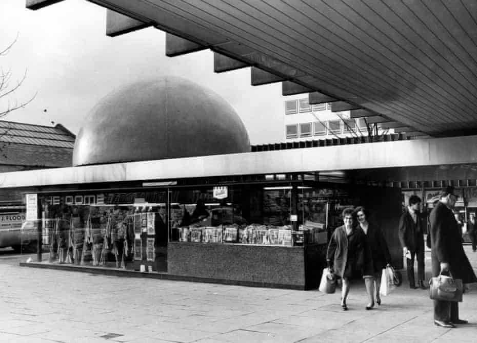 Futuristic … the dome and shoppers in the Bull Yard in 1967.