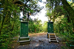 Outhouses on Milford Track, Fjordland National Park, New Zealand