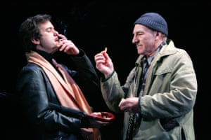 Joshua Jackson and Patrick Stewart in A Life in the Theatre at the Apollo in 2005