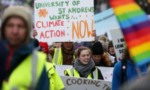 Protesters march through Edinburgh city centre to call for tougher action to tackle climate change