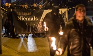 Far-right demonstration in Magdeburg, Germany