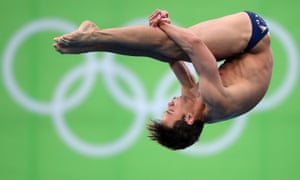 Daley competing at Rio in the men's 10m platform semi-final, 2016.