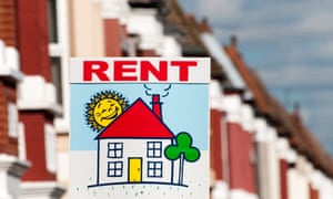 Picture of For Rent sign outside row of houses