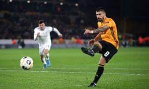 Rúben Neves sees his penalty saved by Dominik Greif.