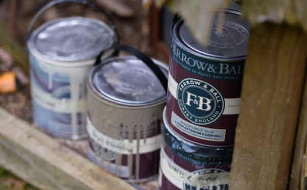The Farrow & Ball paints used for the hut.