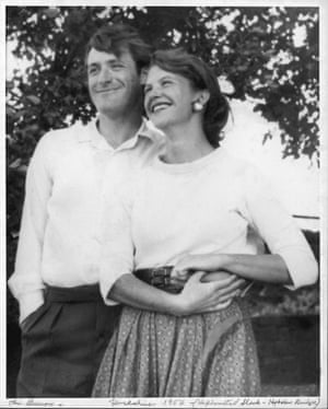 Ted Hughes and Sylvia Plath in Yorkshire, England 1956