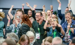 Green party supporters in Brighton