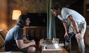 Rural crime story … Adam Driver and Channing Tatum in Logan Lucky.