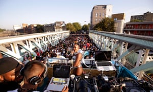 The view from the Red Bull x Mangrove truck at Notting Hill carnival in London..