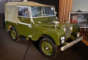 A 1950 Series 1 Land Rover on show at the Royal Horticultural Hall in central London