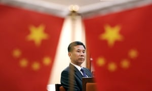 Chinese Finance Minister Liu Kun attends an interview with Reuters at the Ministry of Finance in Beijing,
