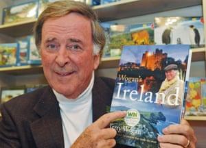 Terry Wogan with book Wogan's Ireland