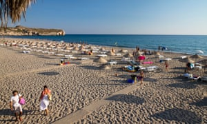 Patara beach on the Lycian coast, Lycia, Mediterranean Sea, Turkey,