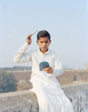 Rama combing his hair, Ayodhya, Uttar Pradesh, India, 2015. From the series A Myth of Two Souls