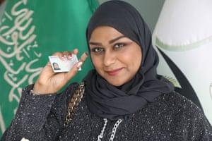 Sarah Saleh, the auto saleswoman who was unable to drive.