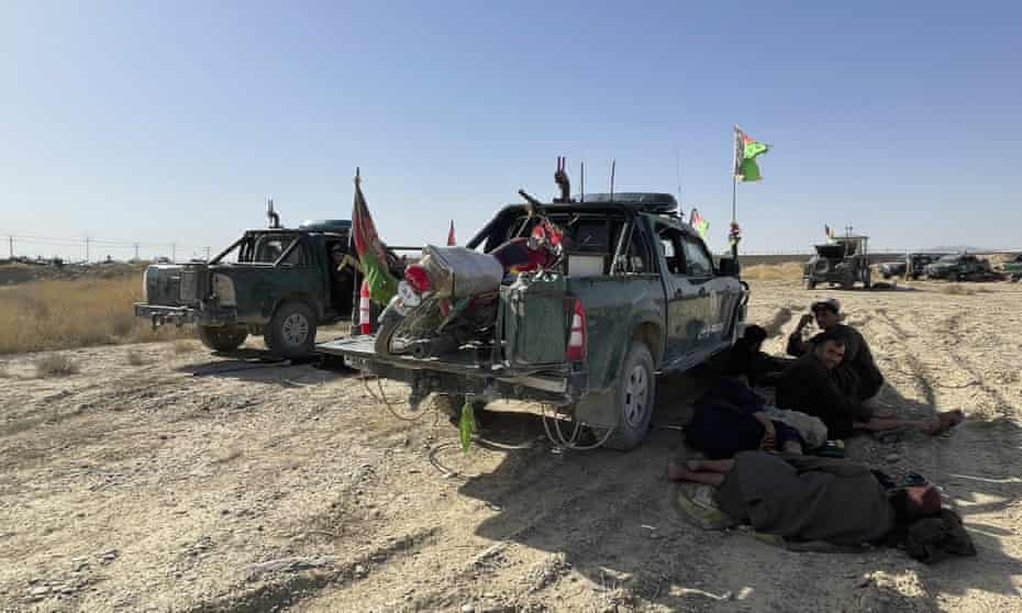 Afghan military and police vehicles