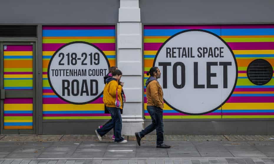 Empty London shops