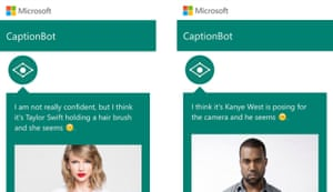 Taylor Swift and Kanye West both identified in Microsoft's CaptionBot app