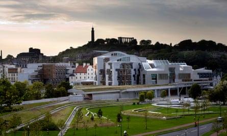 The Scottish parliament building in Edinburgh