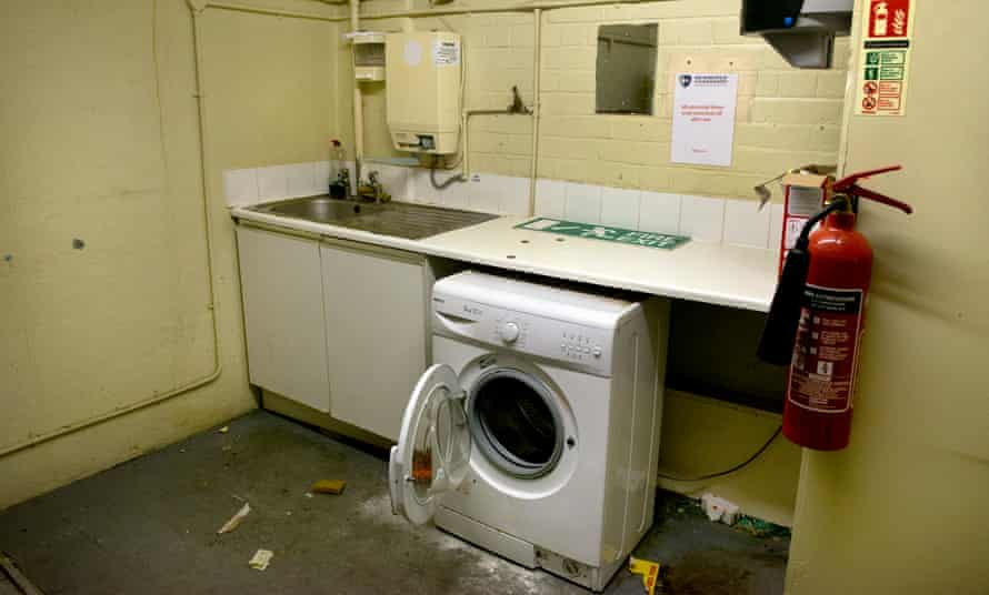 Laundry facilities at the property Hope occupied as a guardian in east London