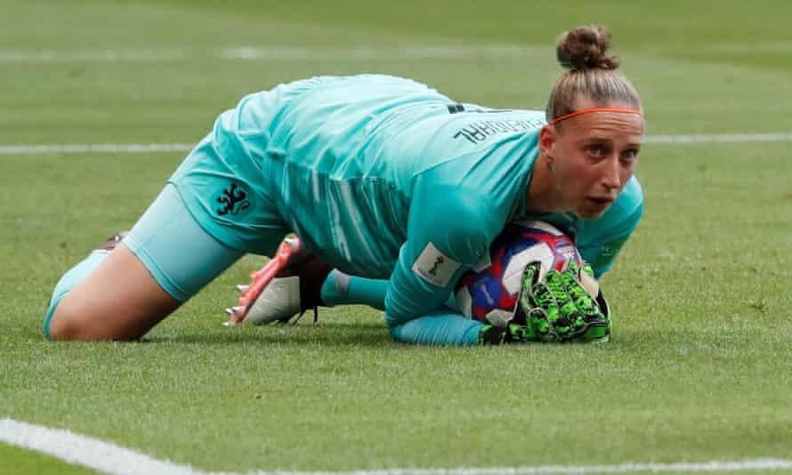 Sari van Veenendaal kept her side in the match