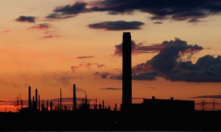 Fawley Oil refinery on the Hampshire coast, UK