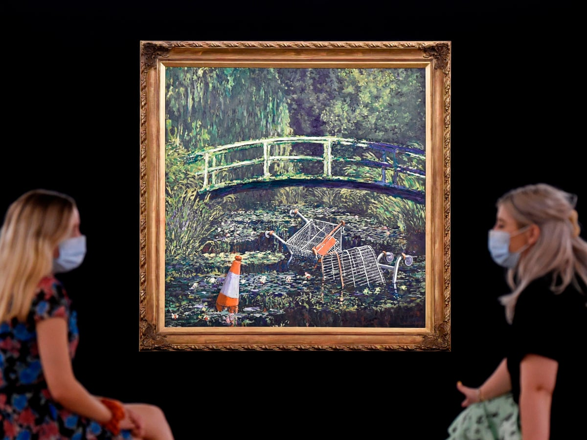 Banksy's Monet tribute to go on sale for up to £5m | Banksy | The Guardian