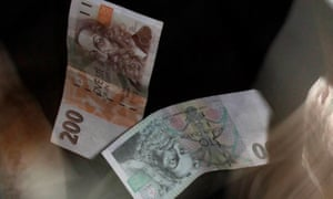 Czech koruna rises after currency cap dropped