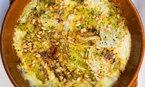 Worth pining for: fennel with cream and pine kernels.