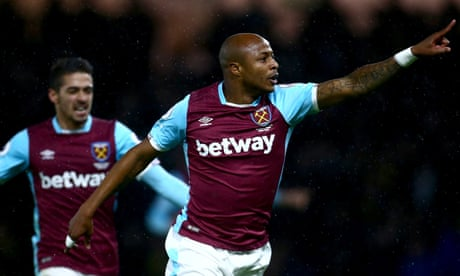 André Ayew pounces to earn West Ham hard-fought draw against Watford