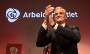 Labour leader Jonas Gahr Støre at the party's post-election event in Oslo.