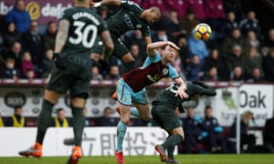 Ashley Barnes, centre, was singled out for praise by his Burnley captain Ben Mee.
