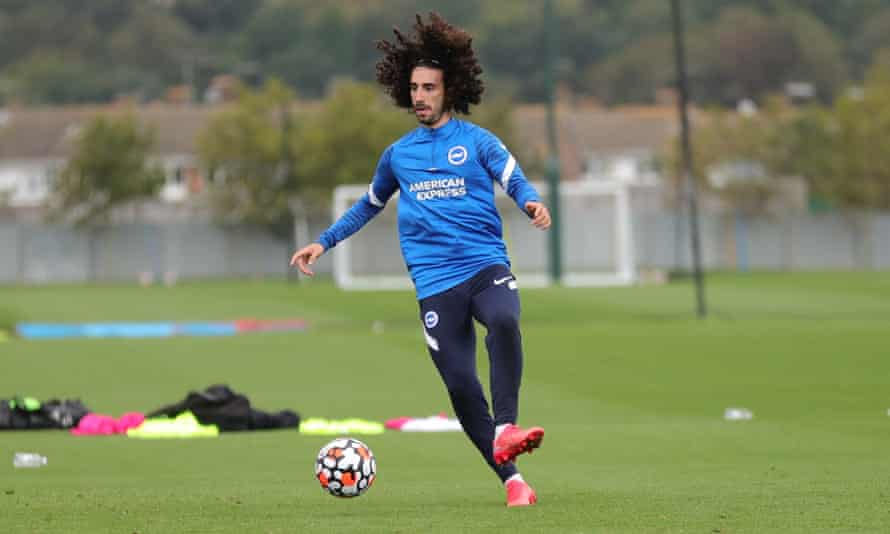 Brighton fans will be eager to see deadline-day signing Marc Cucurella in action.