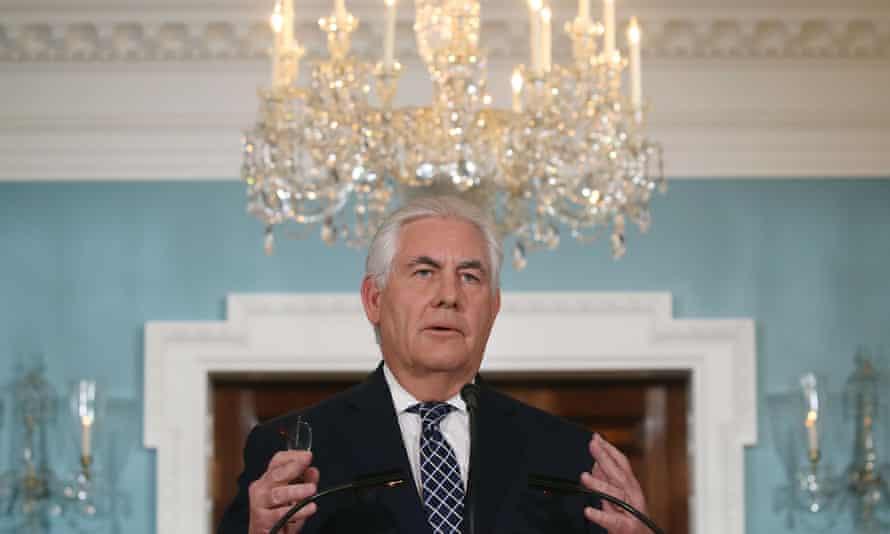 Secretary of state Rex Tillerson speaks about North Korea.