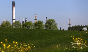 An ExxonMobil refinery in the Netherlands.