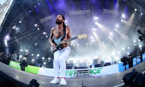 'I didn't want it to be a musical': Simon Neil during Biffy Clyro's 2017 Glastonbury set.