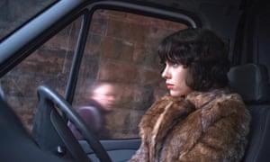 Scarlett Johansson in the film adaptation of Michel Faber's Under the Skin. The novel inspired Mackintosh.