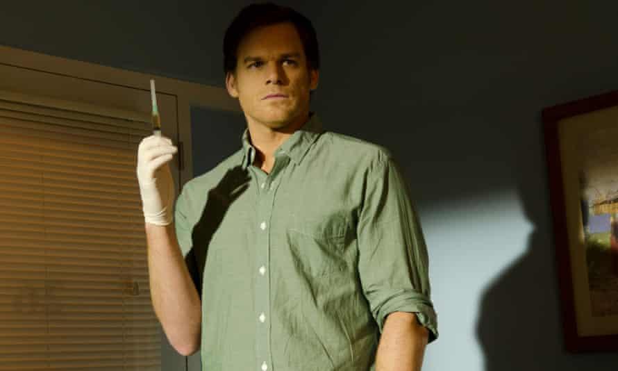 Michael C Hall as Dexter Morgan in the final season of Dexter in 2013.