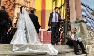 A Wedding at downtown Guanajuato, Mexico's famed Basilica