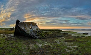 A derelict boat on the Hoo peninsula.