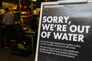 No water for sale at this branch of Woolworths in Cape Town.