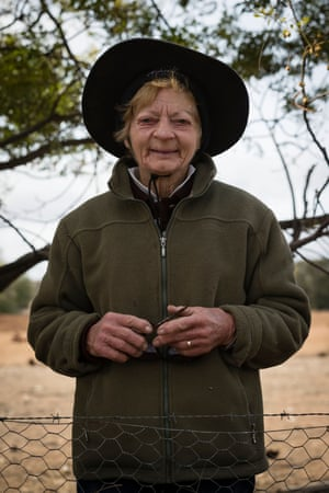 Coral Jerry, 80, is pictured on the family farm Maryborough, 40km outside Coonabarabran.