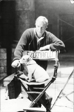 Zeffirelli and his Jack Russell, called Bambina in 1986